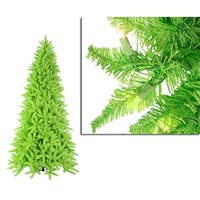 12' Pre-Lit Slim Lime Green Ashley Spruce Christmas Tree - Clear & Green Lights