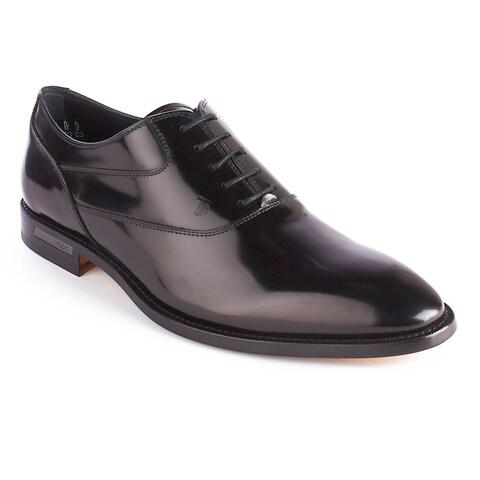 Tod's Men's Patent Leather Oxford Dress Shoes Black