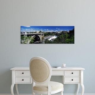 Easy Art Prints Panoramic Image 'Monroe Street Bridge with city in the background, Spokane, Washington' Canvas Art
