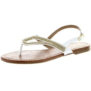 Luo Luo Womens Tracy Dress Rhinestone Sandals