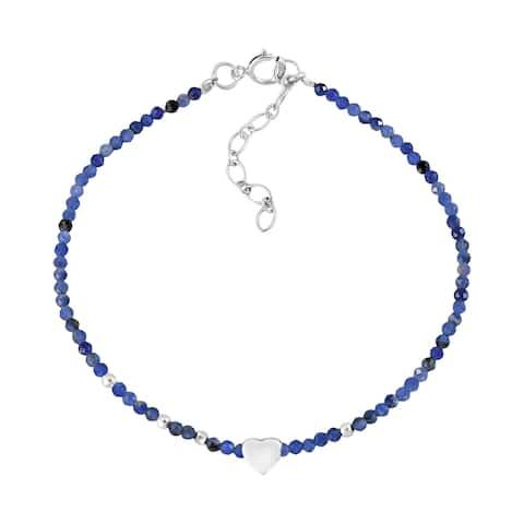 Handmade The Vibrant Colors of Love Sterling Silver Heart Charm Bracelet (Thailand)