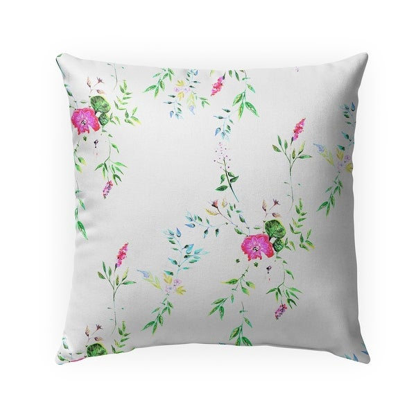 FLORAL WHITE Indoor-Outdoor Pillow By Anne Cote. Opens flyout.