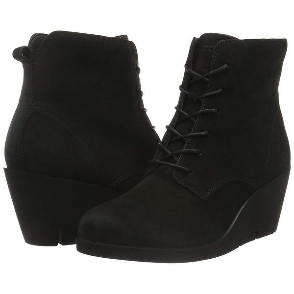 a24f00ff75 ECCO Womens Bella Wedge Tie Closed Toe Ankle Fashion Boots - 10.5