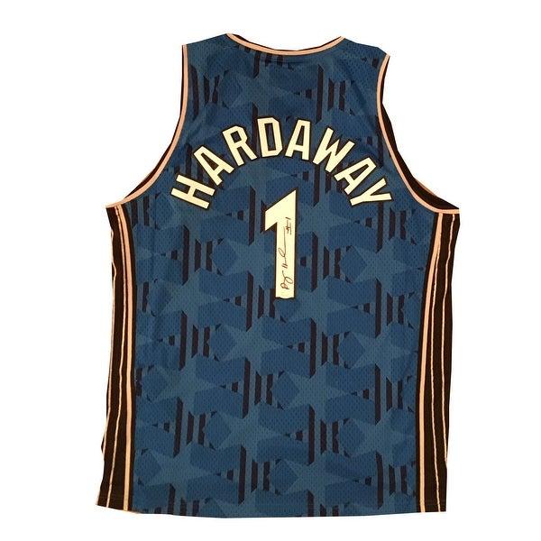 081d68fc7 Anfernee Penny Hardaway Autographed Orlando Magic Blue Swingman Signed  Basketball Jersey JSA COA