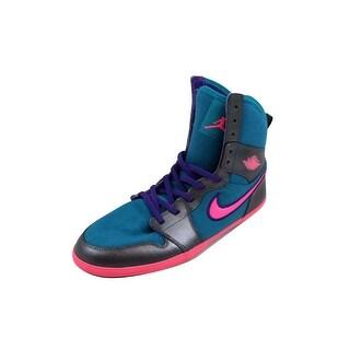 Nike Grade-School Air Jordan 1 Skinny High Tropical Teal/Digital Pink-Metallic Dark Grey 602656-309