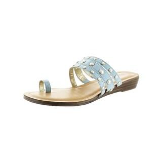 Carlos by Carlos Santana Womens Tori Flat Sandals Toe Loop Two-Piece