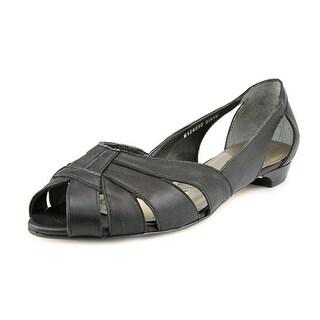 Mark Lemp By Walking Cradles Zuzu Women N/S Open-Toe Leather Flats