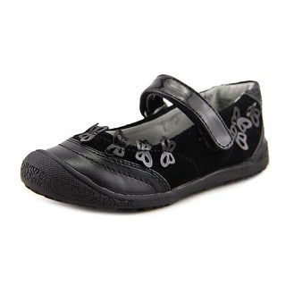 Balleto by Jumping Jacks Autumn Toddler W Round Toe Suede Black Mary Janes