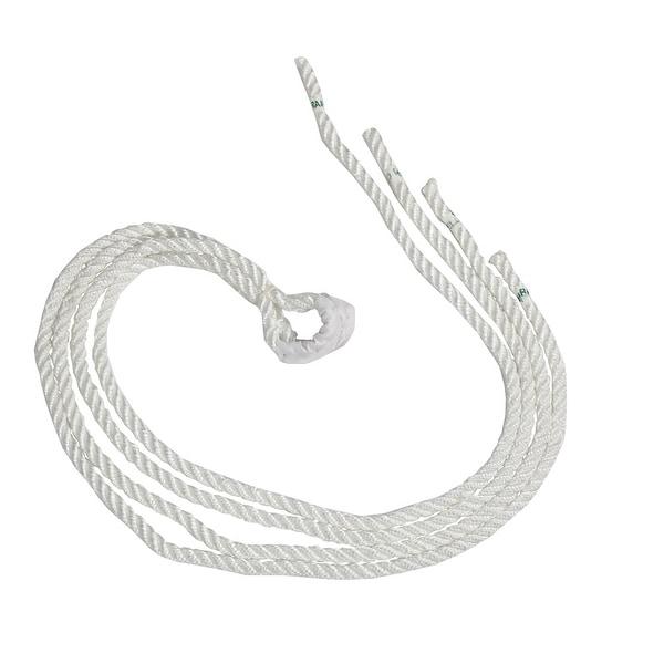 Sunnydaze White Hammock Hanging Rope Set - 5 x 76-Inches Long - Set of Two