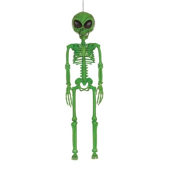 Skeleton Alien Green Halloween Decoration