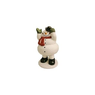 "Design House 319731 16-5/16"" Tall Snowman with Bobble Action Lawn Decoration - N/A - N/A"