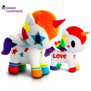 "Love Bundle - Tokidoki - Rainbow Love 7.5"" and Bowie Unicorno 11"" High Quality Plush (2 Items)"