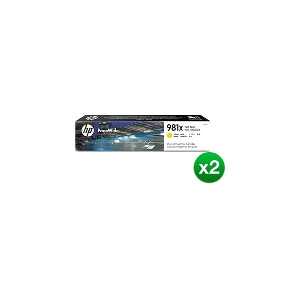HP 981X High Yield Yellow Original PageWide Cartridge (L0R11A)(2-Pack)