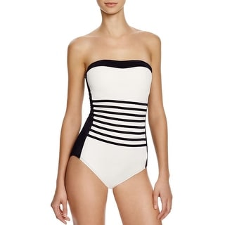 DKNY Swim Womens Stretch Shelf Bra One-Piece Swimsuit - 8