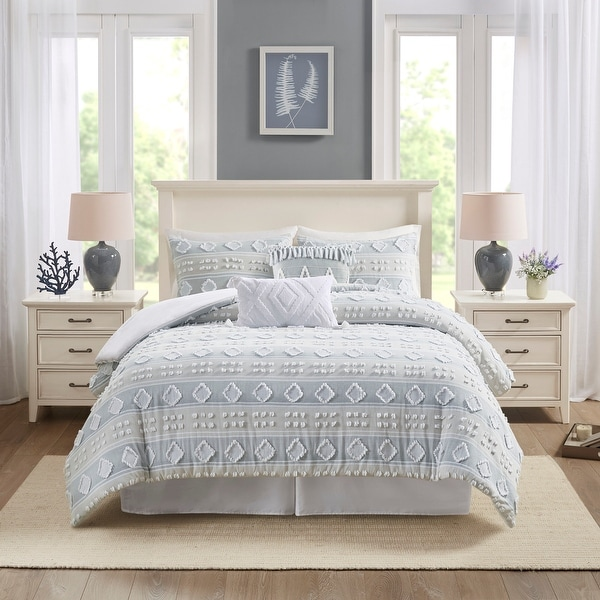 Harbor House Brice Multi 6 Piece Cotton Clipped Jacquard Comforter Set. Opens flyout.