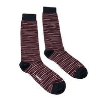 Missoni GM00CMU5231 0003 Maroon/Navy Knee Length Socks - S