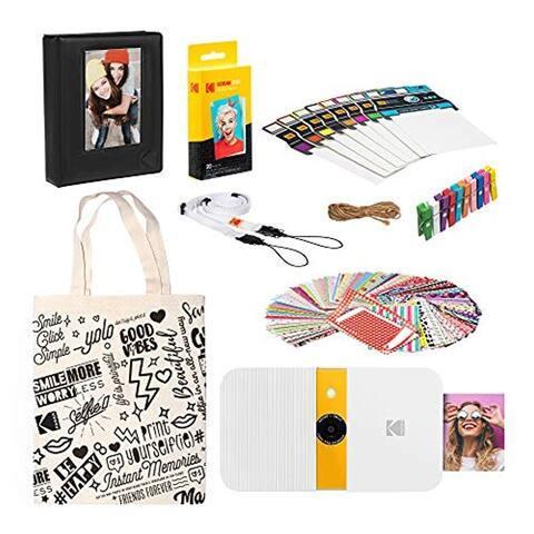 KODAK Smile Instant Print Digital Camera (White/ Yellow) Starter Kit