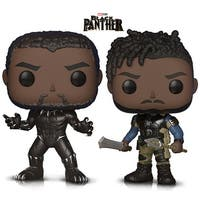 Funko Pop! Marvel Black Panther and Killmonger Vinyl Figures (2 Items)