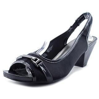 Bandolino Rasper Women Peep-Toe Canvas Slingback Heel