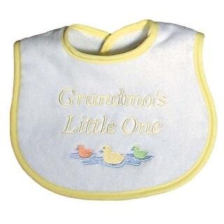 "Raindrops Unisex Baby ""Grandma""S Little One"" Embroidered Bib, Yellow - One size"