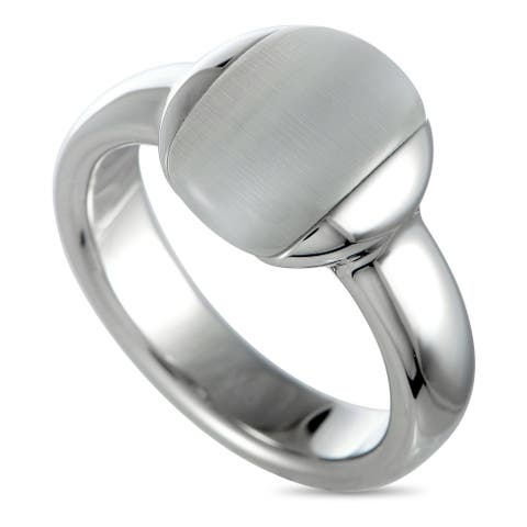 Calvin Klein Devoted Stainless Steel and Cat's Eye Ring Size 6