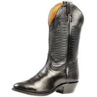 Boulet Western Boots Mens Cowboy Leather Sporty Black Deertan