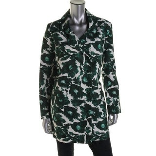 Mother of Pearl Womens Carrera Sateen Floral Print Blazer - L