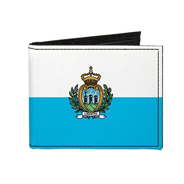 Buckle-Down Canvas Bi-fold Wallet - San Marino Flag Accessory