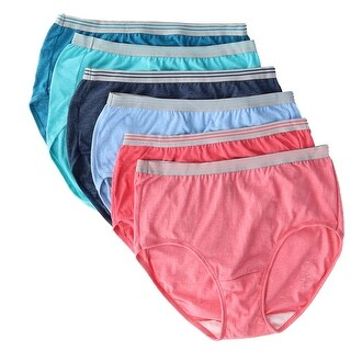 Fruit of the Loom Women's Heather Brief Underwear (6 Pair Pack)
