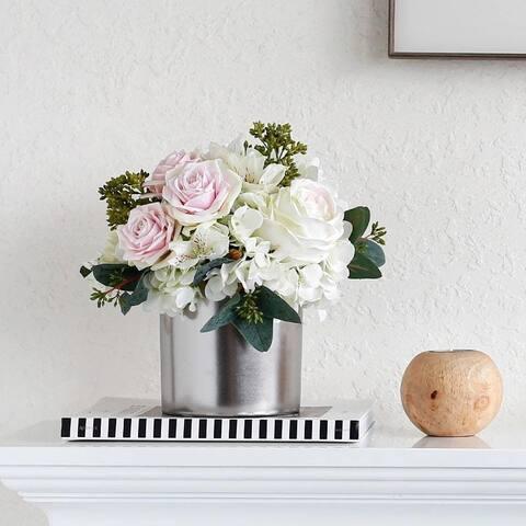 "FloralGoods Rose Forest Flower Arrangement Winter Rose 11"" Tall"