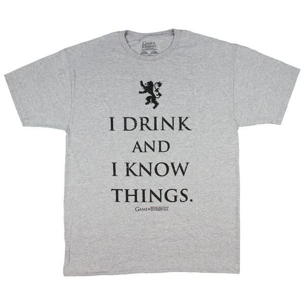 2aeb19f4f Shop Game of Thrones Men's I Drink and I Know Things T-Shirt - Free  Shipping On Orders Over $45 - Overstock - 21507763