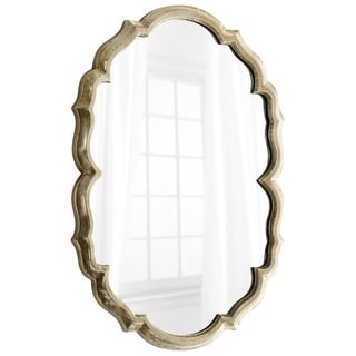 Cyan Design Banning Mirror 39.75 x 29 Banning Oval Iron and Wood Mirror