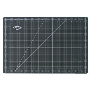 Alvin Deluxe Professional Self-Healing Cutting Mat, 12 x 18 Inches, Green/Black