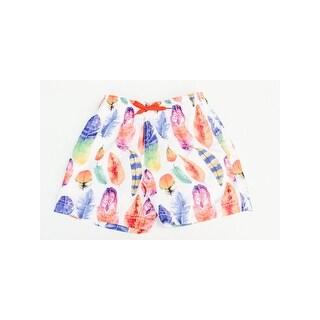 Azul Boys Orange Multi Dancing Feather Print Drawstring Swim Shorts (4 options available)