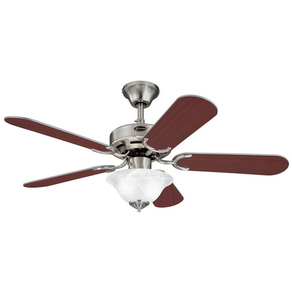 """Westinghouse 7877365 Richboro Se 42"""" 5 Blade Hanging Indoor Ceiling Fan with Reversible Motor, Blades, Light Kit, and Down Rod"""