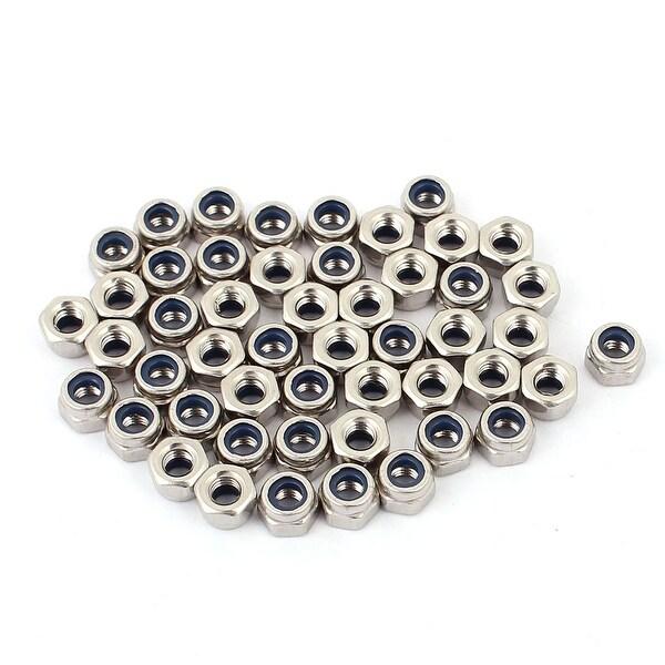 M3 x 4mm 304 Stainless Steel Machine Screw Hex Hexagon Nuts Fastener 50pcs