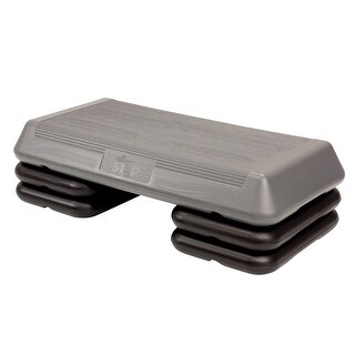 The Original Fitness Step with Support Blocks, Silver/Black