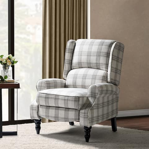 Asikli Manual Recliner with Wooden Base