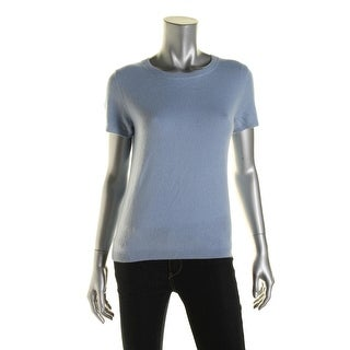 Private Label Womens Cashmere Short Sleeves Pullover Sweater - M