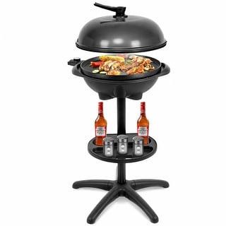 Costway Electric BBQ Grill 1350W Non-stick 4 Temperature Setting