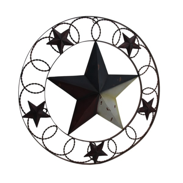 Shop Rustic Red White Blue Indoor Outdoor Framed Barn Star Wall