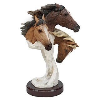 Design Toscano Racing the Wind Wild Horse Statue by Samuel Lightfoot Large