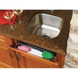 "Rev-A-Shelf 6581-16-5 6581 Series 16"" Stainless Steel Sink Front Tip-Out Tray"