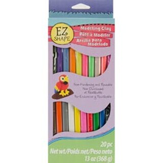 Assorted - Ez Shape Non-Hardening Modeling Clay 13Oz 20/Pkg