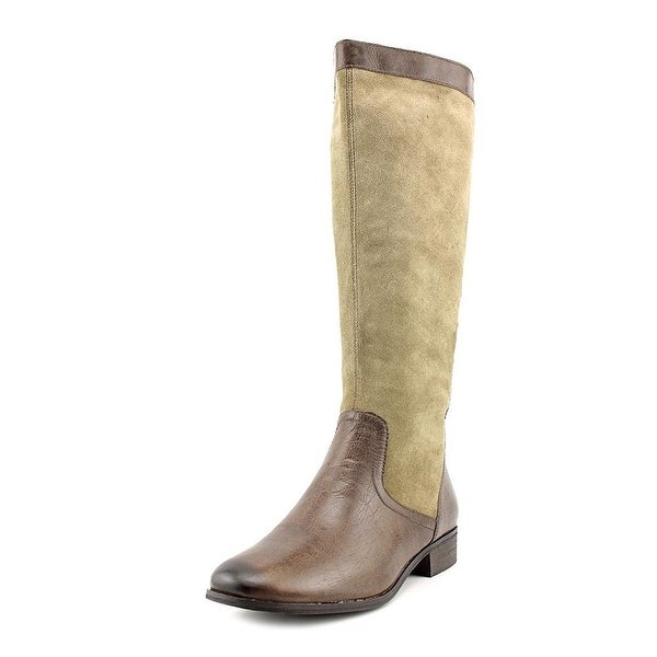 Giani Bernini Womens Caitlyn Leather Almond Toe Mid-Calf Fashion Boots