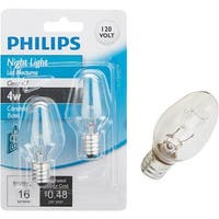 Philips Lighting Co 2Pk 4W  Clr Nt Lt Bulb 476010 Unit: EACH