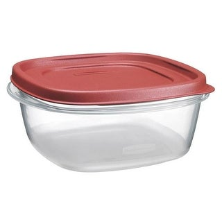 Rubbermaid 1777087 Easy Find Lids Square Food Storage Container, 1.1 Quart