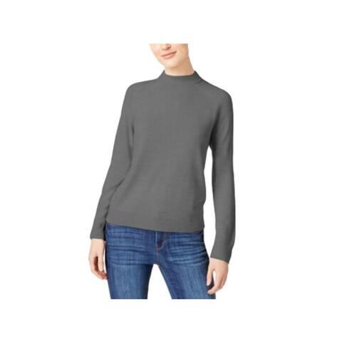 KAREN SCOTT Gray Long Sleeve Blouse Sweater XL