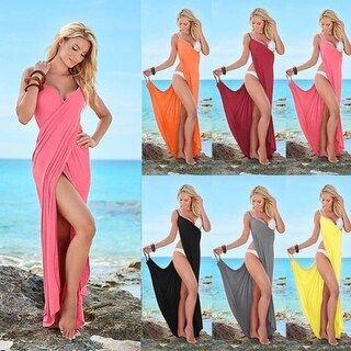 Spaghetti Strap Backless Beach Dress
