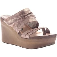 OTBT Women's Tailgate Heeled Sandal Copper Leather